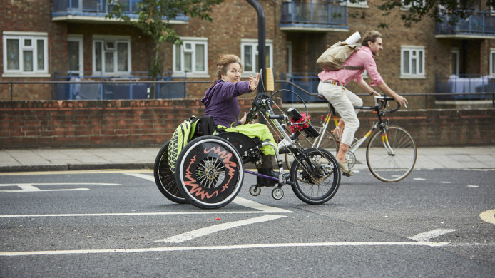 wheelchair attachment for bike