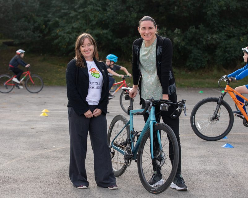 Bikeability Executive Director Emily Cherry and Dame Sarah Storey