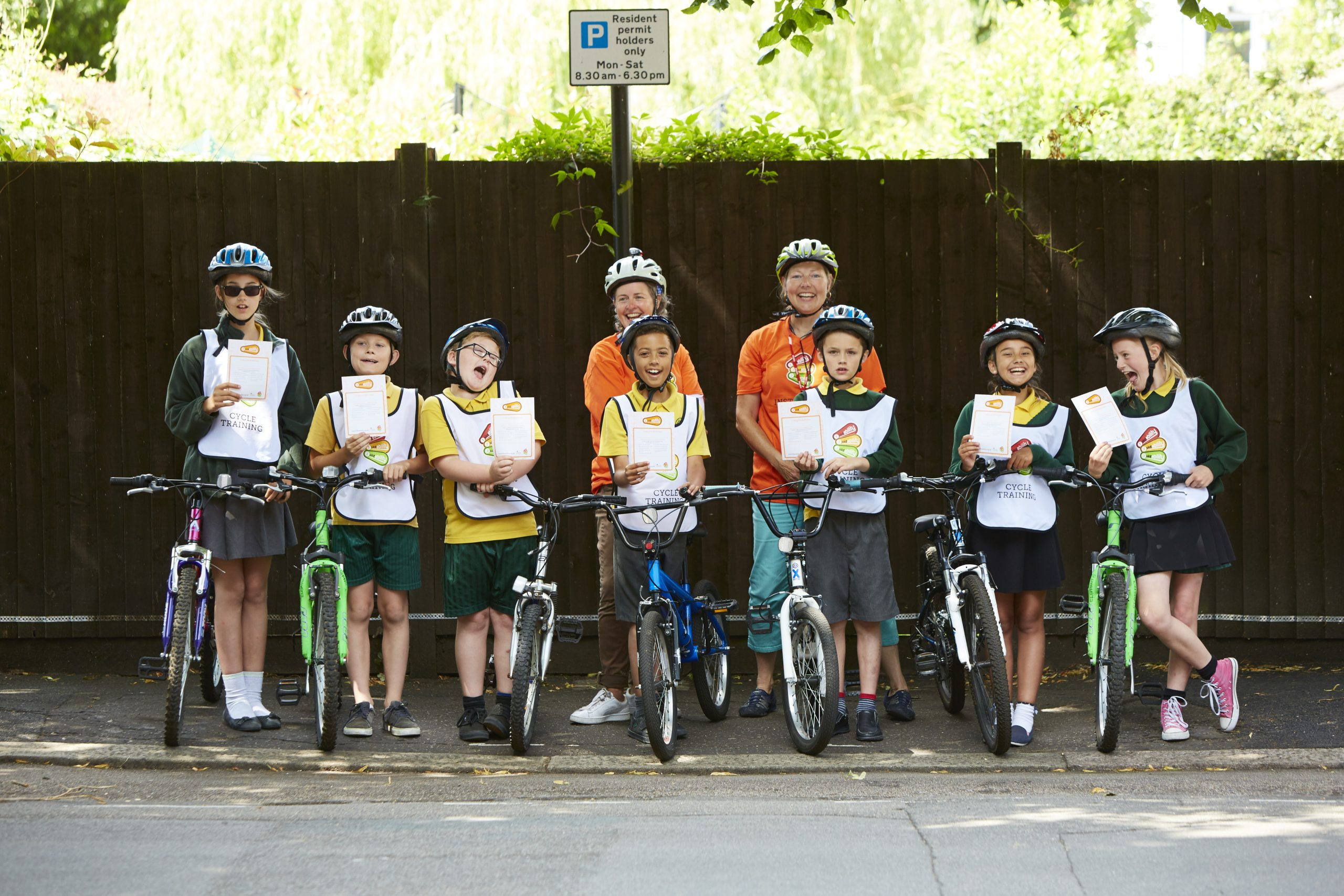 Southend school with Bikeability certificates