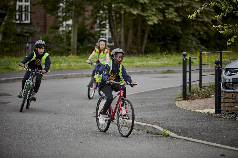 Child on bike